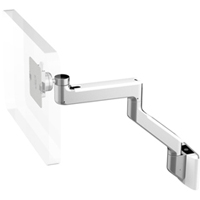 Humanscale M8 Arm with Universal Slatwall Mount, Fixed Angled Link/Fixed Straight Link and White