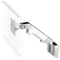 Humanscale M8 Arm with Universal Slatwall Mount, Dynamic Link only and White