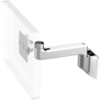 Humanscale M8 Arm with Universal Slatwall Mount, Straight Link only and White