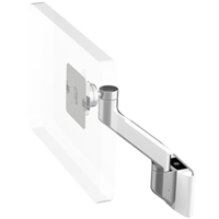 Humanscale M8 Arm with Universal Slatwall Mount, Fixed Angle Link only and White