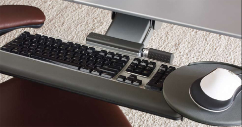 Humanscale keyboard system with Mouse Platform