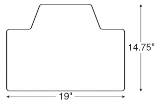Diagram for Humanscale 600 Extended Board Keyboard Tray Platform System
