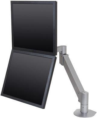 Innovative 7500-Wing LCD Dual Monitor Arm from landscape to portrait