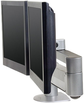 Innovative 7500-Wing-1500 Dual LCD Arm with Monitors