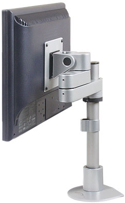 Innovative 9112-S-12-FM Articulating LCD Pole Mount folds into 3 inch of space