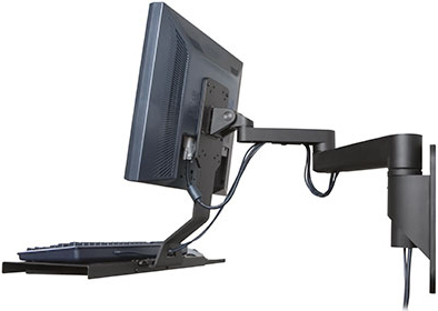Innovative 9300-HD-DE Data Entry Wall Mount Arm with cable management