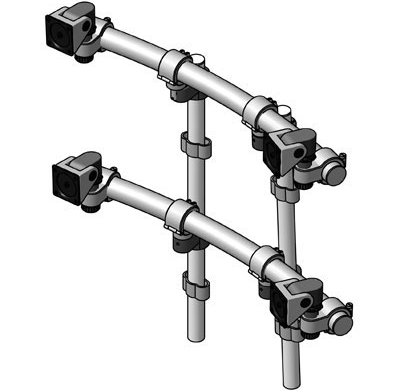 Innovative 9169-D-2 ArcView Two Tier Dual Monitor Beams and Mounting Poles