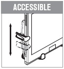 Adjustable clasps allow free access to jacks and ports