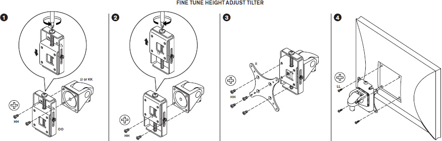 Fine Tune Height Adjust Tilter