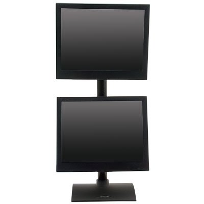 ... Dual Monitor LCD Desk Stand Adjusts Monitors Independently. Front View