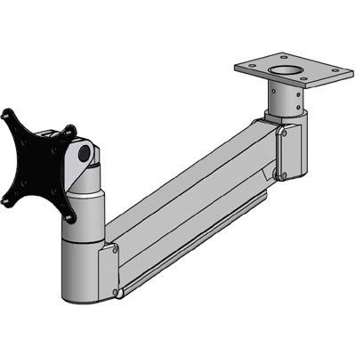 Innovative 7020 Long Reach Under Cabinet Table Monitor Mount Arm