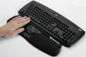 Contour Design RollerMouse Free Ergonomic Mouse with Wrister and Keyboard