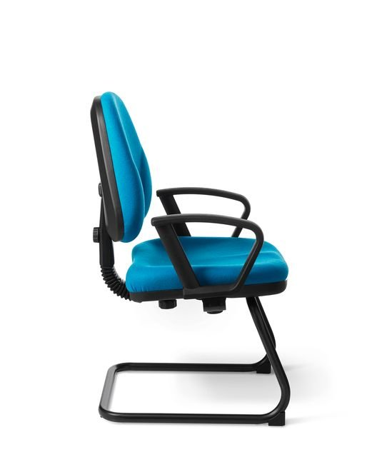 Side View - Office Master BC48S Sled Base Side Chair
