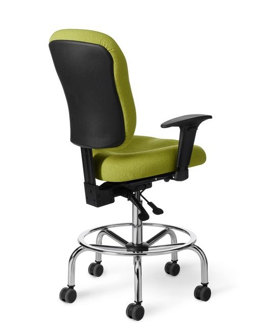 Back View - CLS61 Classic Lab Stool by Office Master