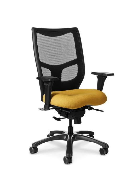 Side view of Office Master YES YS78 High Back Mesh Chair