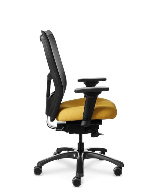 Full Side View of Office Master YS78 Mesh Back Chair