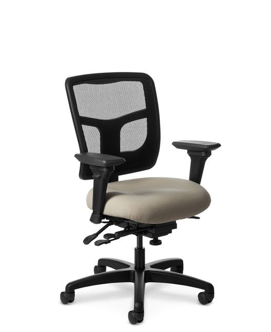 Side View of Office Master YES YS84 Mid-Back Ergonomic Chair