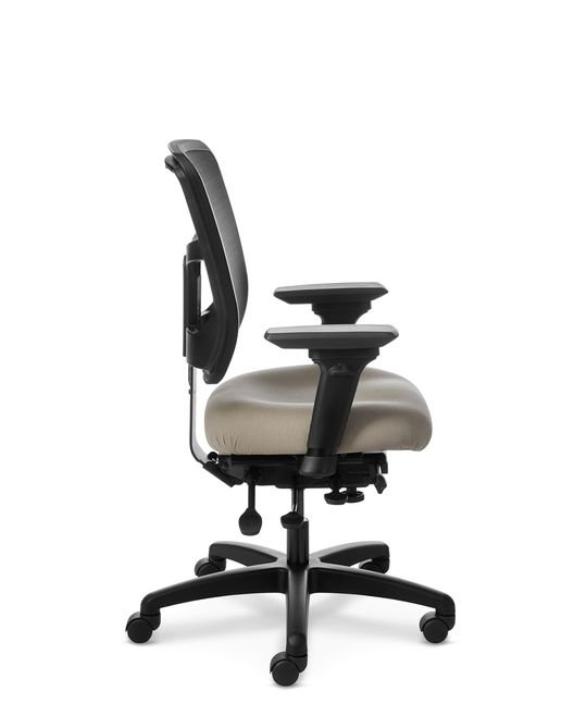 Full Side View of Office Master YS84 Mesh Back Task Chair