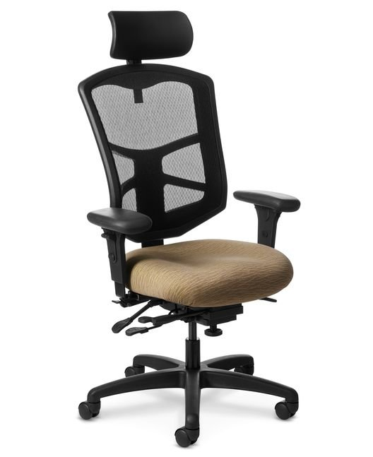 Side View of Office Master YES YS89 High Back Chair with Headrest
