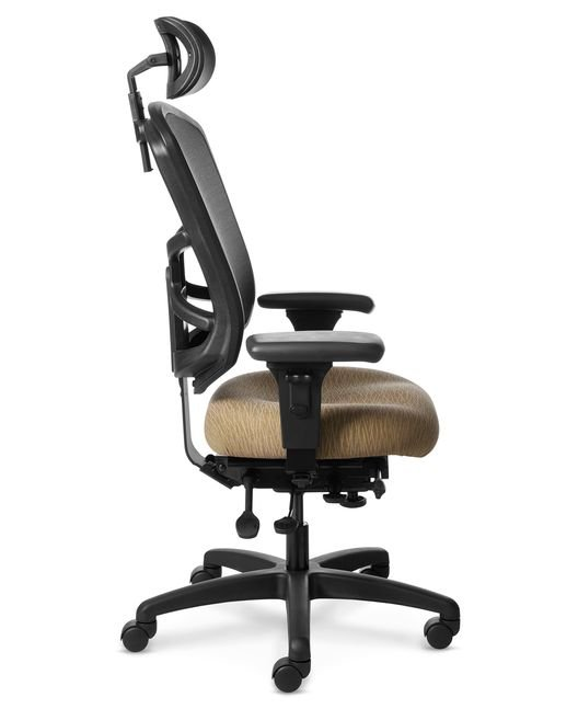 Full Side View of Office Master YS89 High Back Mesh Chair with Headrest