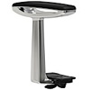 Office Master AR-81 Fixed Height Polished Aluminum arms