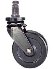 Rubber Casters for concrete and hard surfaces (5 per set) - CAS-RUB