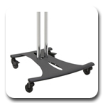 Premier PSD-EB72C Elliptical Floor Cart Stand with 72 inch Chrome Poles
