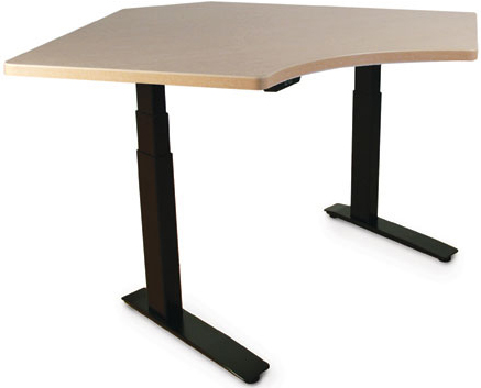 SIS SURF2 Corner 2-leg Electric Height Adjustable Table and Workcenter