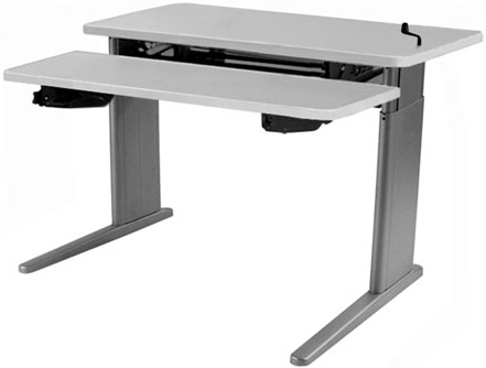 SIS Xtreme Crank Duplex Bi-level Height Adjustable Table and Ergonomic Desk