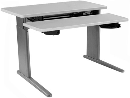 SIS Xtreme Electric Duplex Bi-level Height Adjustable Table and Ergonomic Desk