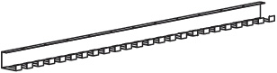 "990103-8 - 22.4"" Wire Management length"
