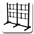"Premier MVWS-2x2-4655 Modular 2x2 Video Wall Stand for 46-55"" Displays"