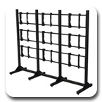 "Premier MVWS-3x3-46 Modular 3x3 Video Wall Stand for 46"" Diaplays"