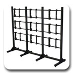 "Premier MVWS-3x3-55 Modular 3x3 Video Wall Stand for 55"" Diaplays"