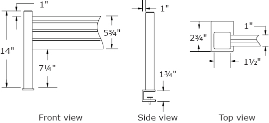 Technical Drawing for Workrite 970 Sierra Tool Bar