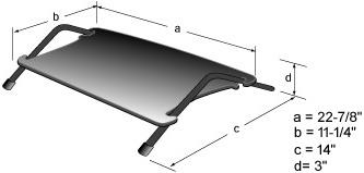WorkRite 210-WIDE Angle Adjustable FootRester