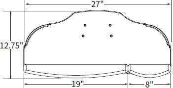 Technical Drawing for Workrite SKATE Skate Keyboard Platform