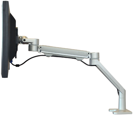 Workrite Willow C-Clamp or Grommet LCD Monitor Arm for Lighter Monitors