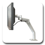 Workrite WA1000-C-S or WA1000-G-S Willow LCD Monitor Arm for Lighter Monitors (1-14 lbs)