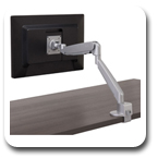 Workrite CONF-1SDA-WOB-S Conform Articulating Monitor Arm