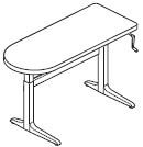 Workrite Sierra Crank Peninsula Adjustable Desk