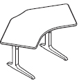 Workrite Sierra Pin 120 Degree 2 Legs Height Adjustable Tables and Desks