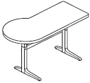 Workrite Sierra Pin P Peninsula 2 Legs Height Adjustable Tables and Desks