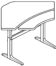 Workrite Sierra Pin Equal Corner 2 Legs, Bi-Level Height Adjustable Tables