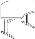 Workrite Sierra Pin Equal Corner 2 Legs Height Adjustable Tables and Desks