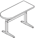 Workrite Sierra Pin Peninsula 2 Legs Height Adjustable Tables and Desks