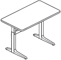 Workrite Sierra Pin Rectangular Height Adjustable Tables and Desks