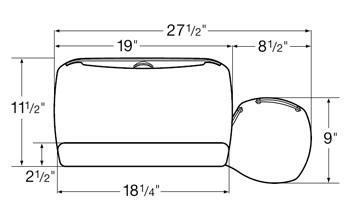 Diagram for WorkRite 2110RL Advantage Single Mouse Under Keyboard Platform