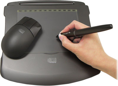 Adesso 6400 Cyber Graphics Tablet with Cordless Ergonomic Mouse and Drawing Pen