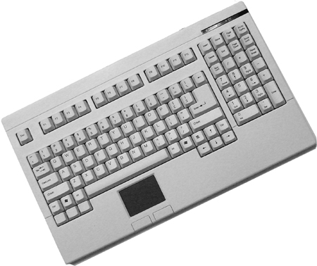 Adesso ACK-730UW or ACK-730PW Easy-Touch Keyboard with Touchpad White